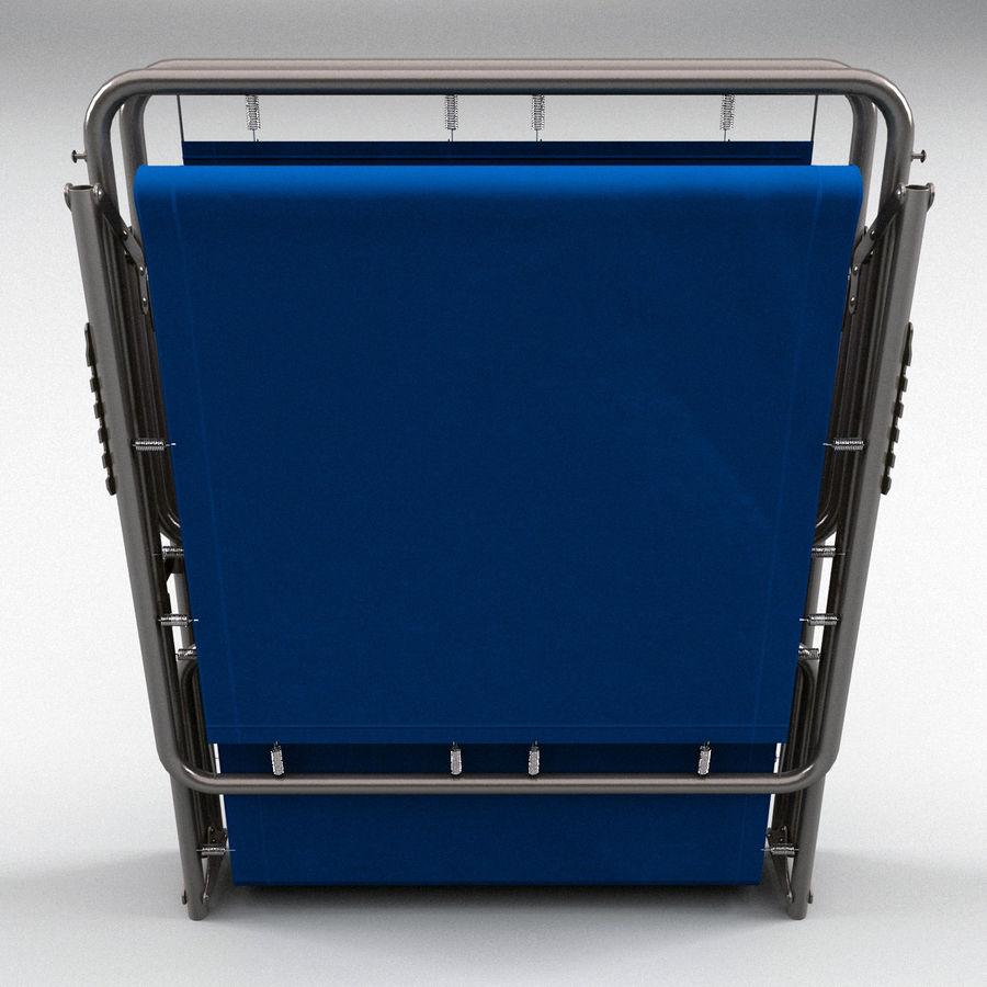 Lit pliant fermé royalty-free 3d model - Preview no. 2