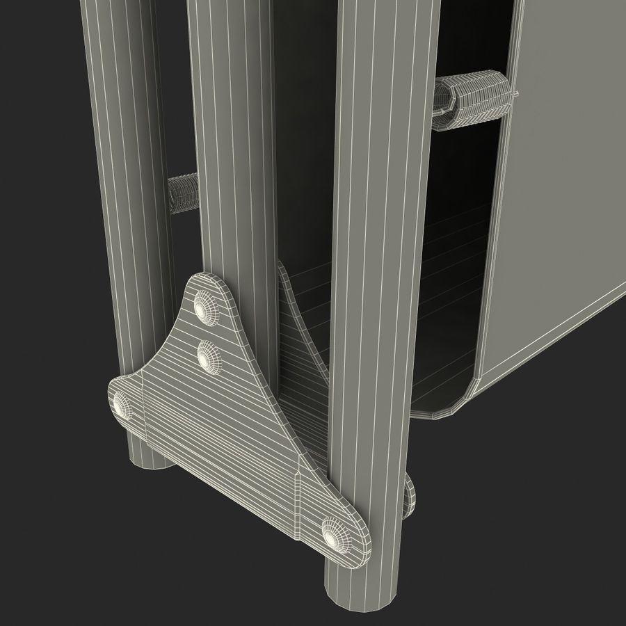 Lit pliant fermé royalty-free 3d model - Preview no. 11