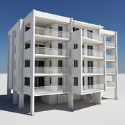 Apartment Building 04 3d model