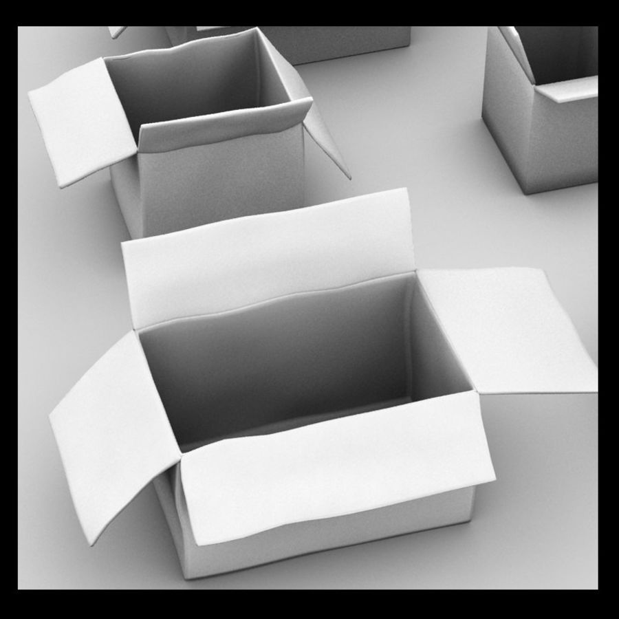 carboard paper boxes royalty-free 3d model - Preview no. 6