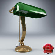 Table Lamp Green 3d model