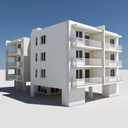 Apartment Building 06 3d model