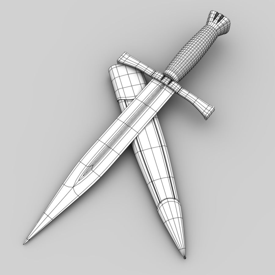 Dagger royalty-free 3d model - Preview no. 5