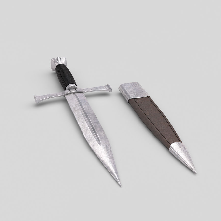 Dagger royalty-free 3d model - Preview no. 2
