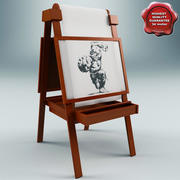 Easel Small 3d model