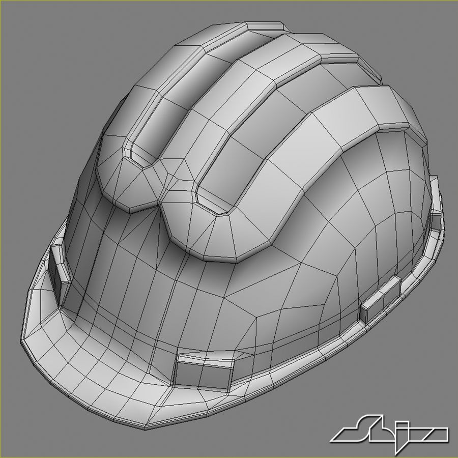 Elmetto da cantiere royalty-free 3d model - Preview no. 7