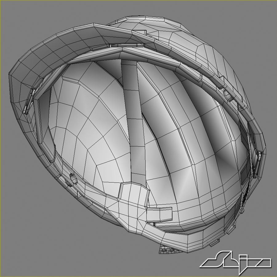 Elmetto da cantiere royalty-free 3d model - Preview no. 8