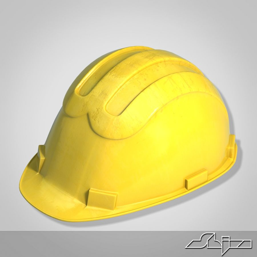Каска royalty-free 3d model - Preview no. 3