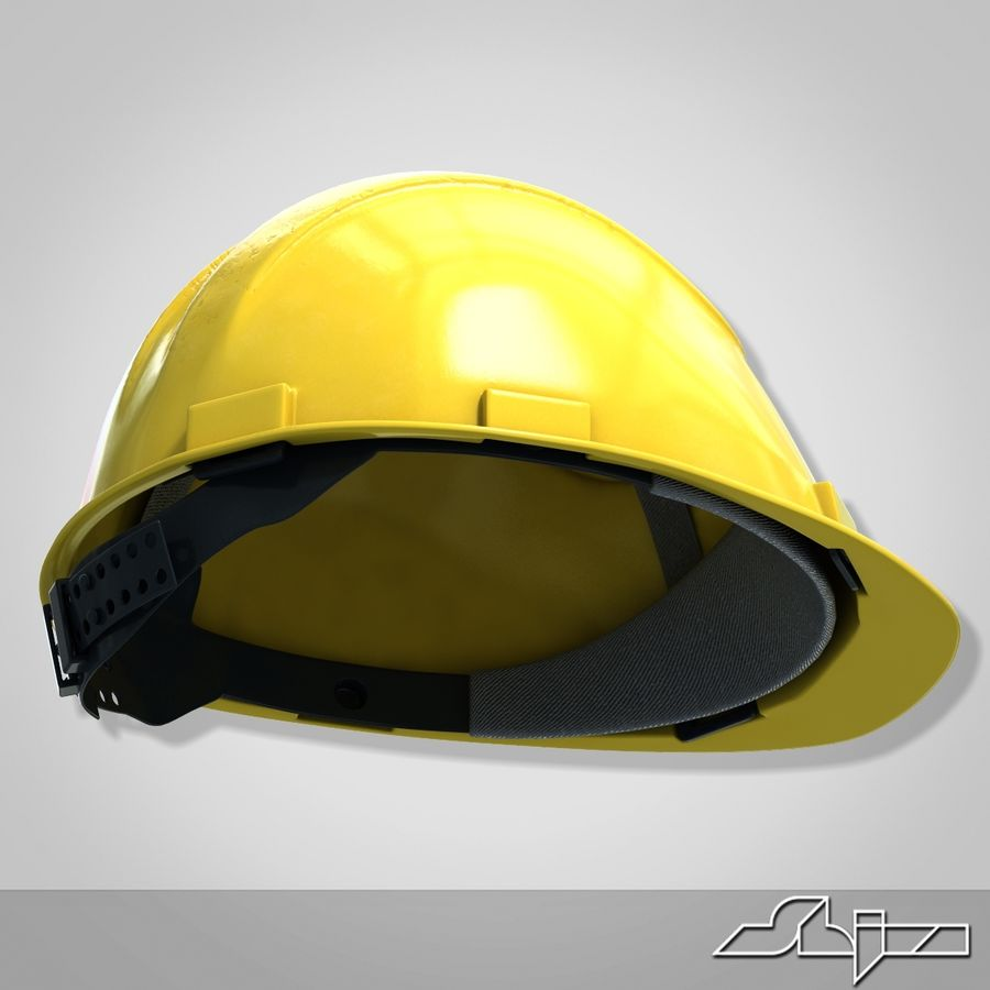 Каска royalty-free 3d model - Preview no. 6