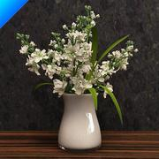 stock flower in vase 3d model