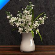 fiore in vaso 3d model