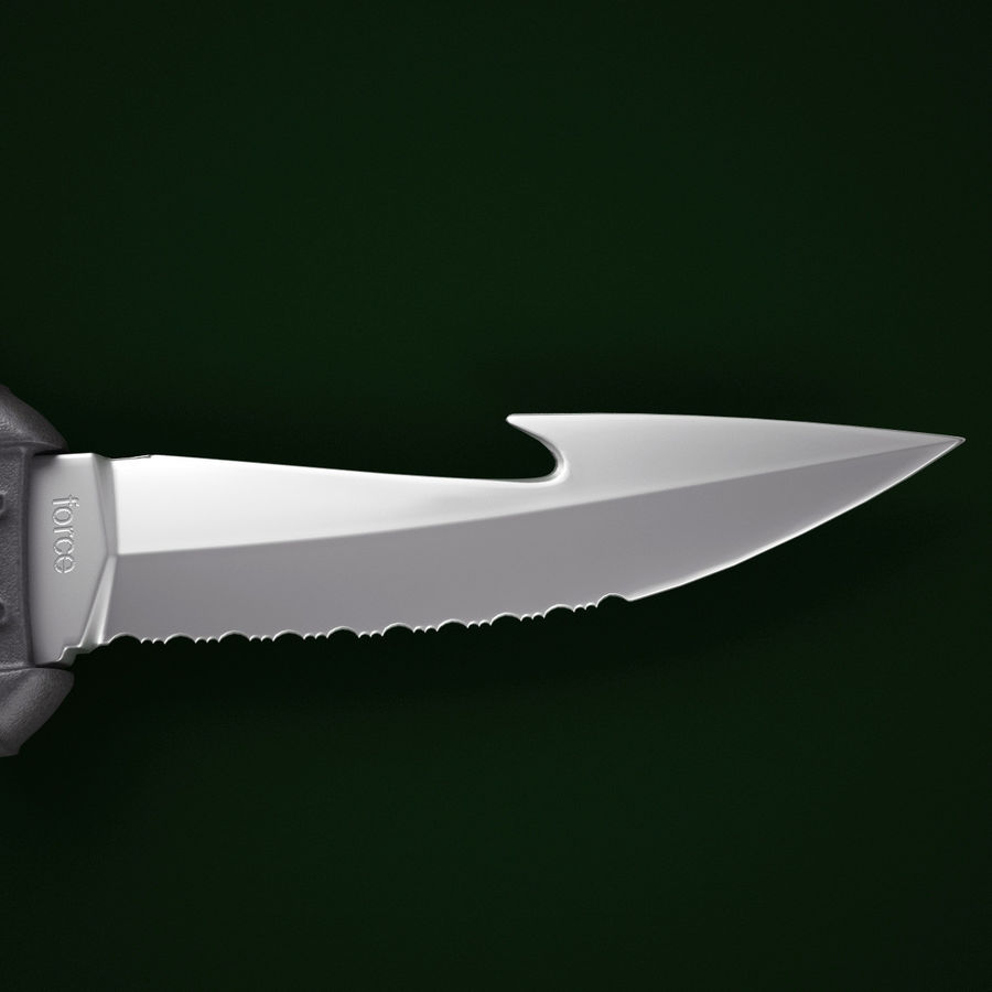 Mares Force Knife V2 royalty-free 3d model - Preview no. 7