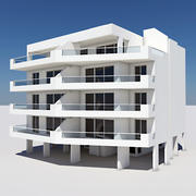 Apartment Building 02 3d model
