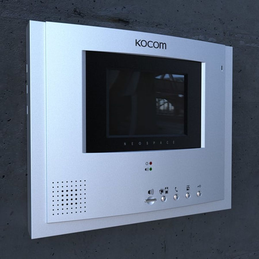 Kocom DoorPhone royalty-free 3d model - Preview no. 2