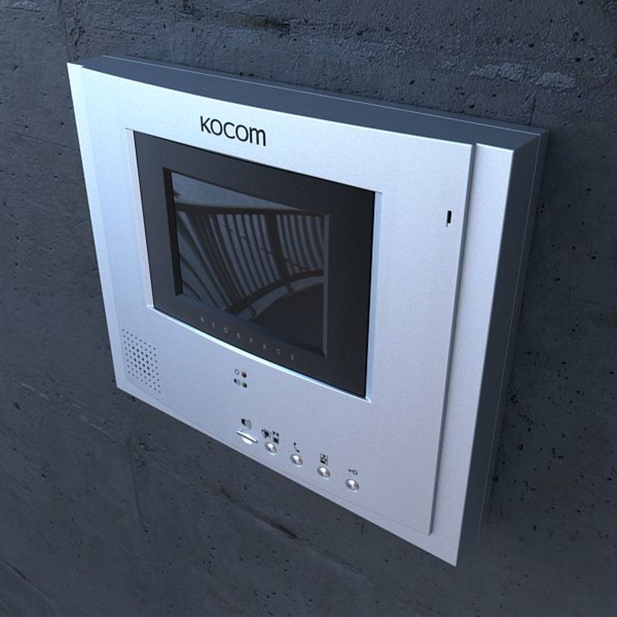 Kocom DoorPhone royalty-free 3d model - Preview no. 4