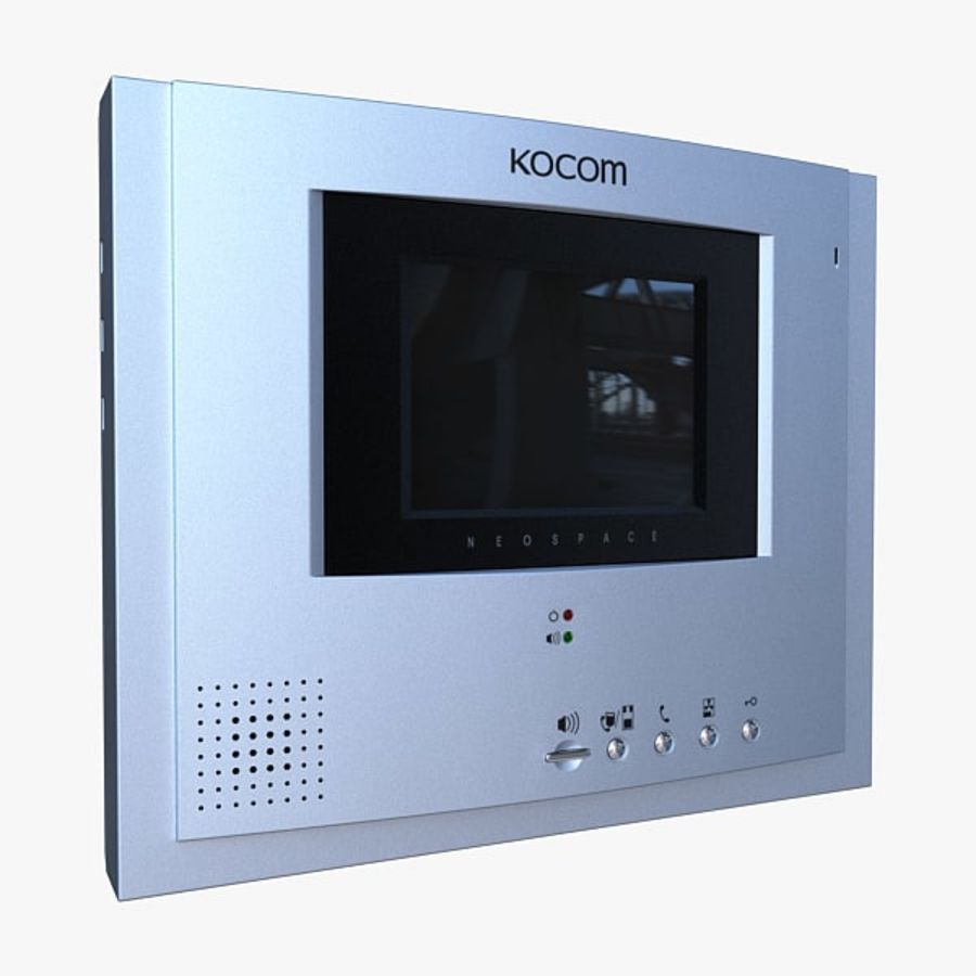 Kocom DoorPhone royalty-free 3d model - Preview no. 1