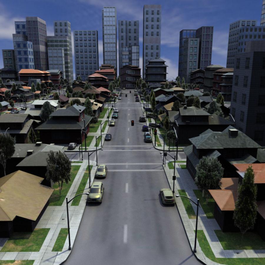 City c4d royalty-free 3d model - Preview no. 1