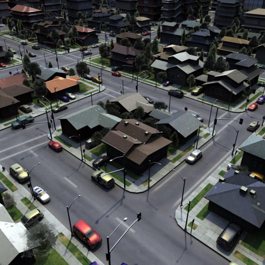 City c4d royalty-free 3d model - Preview no. 4