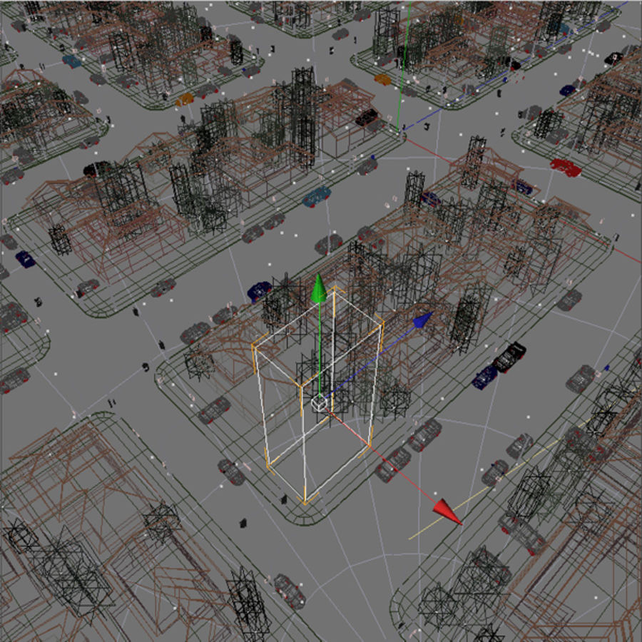 City c4d royalty-free 3d model - Preview no. 3