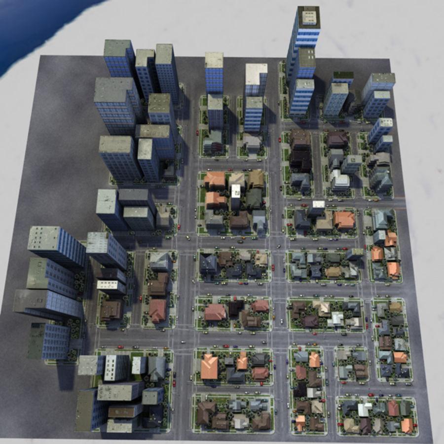 City c4d royalty-free 3d model - Preview no. 6