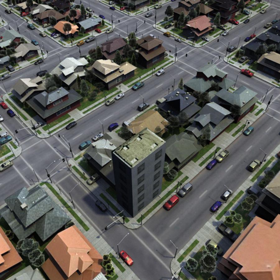 City c4d royalty-free 3d model - Preview no. 2