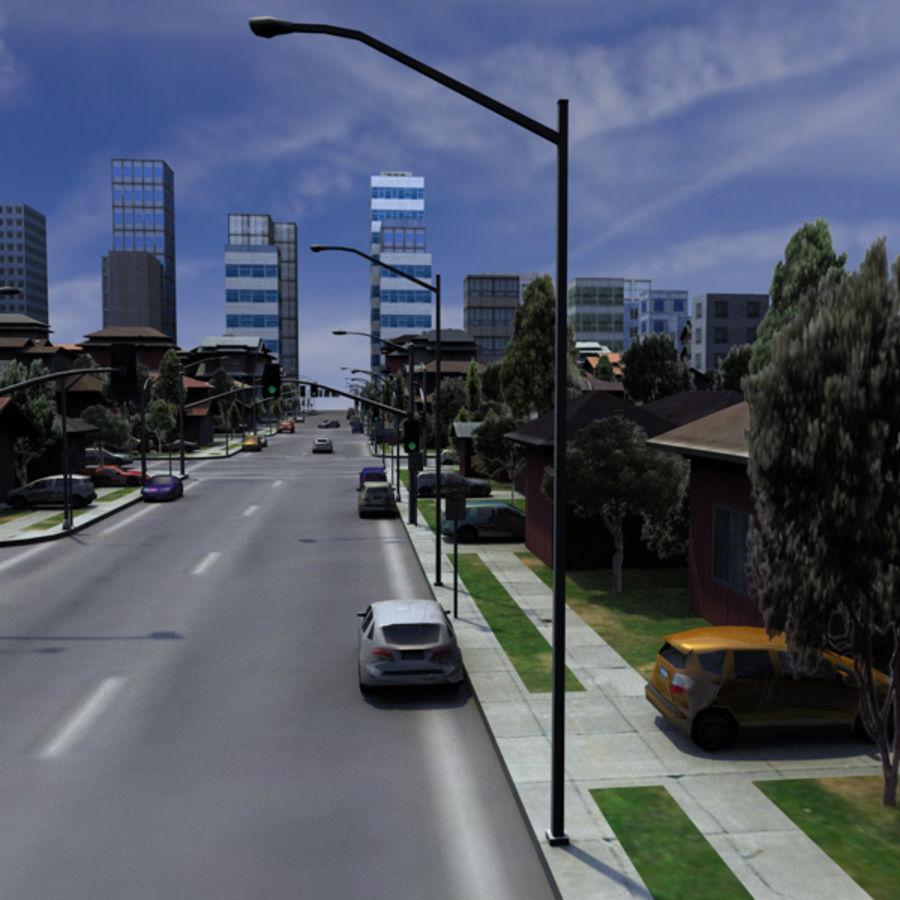 City c4d royalty-free 3d model - Preview no. 5