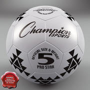 Football Ball PRO STAR 5 3d model
