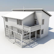 Two Story House 01 3d model
