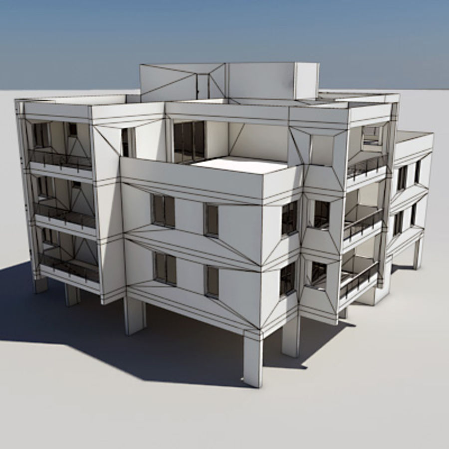 Apartment Building 05 royalty-free 3d model - Preview no. 6
