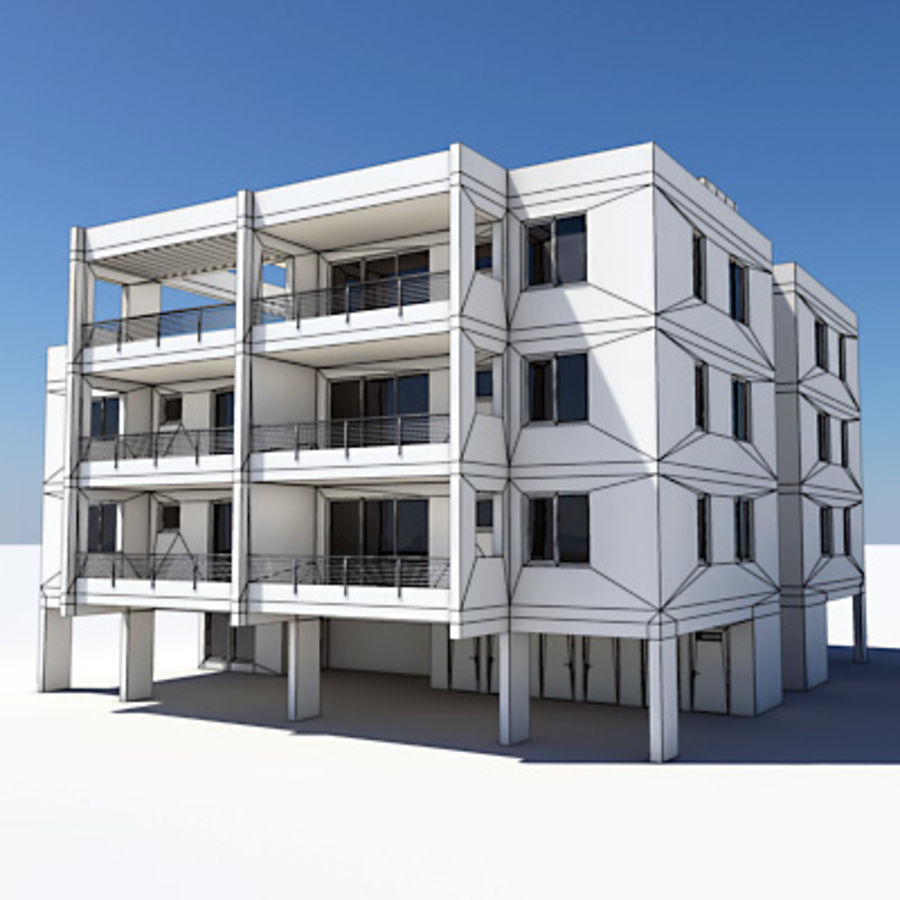Apartment Building 05 royalty-free 3d model - Preview no. 5
