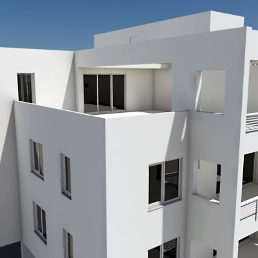 Apartment Building 05 royalty-free 3d model - Preview no. 4