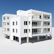 Apartment Building 05 3d model