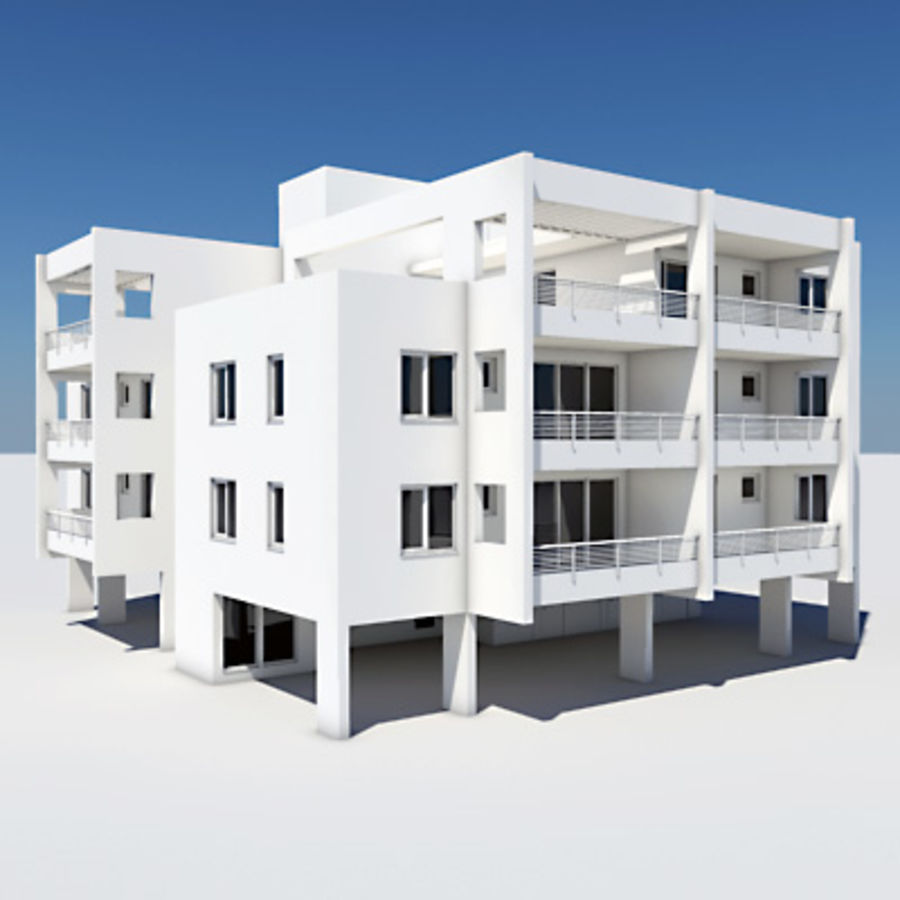 Apartment Building 05 royalty-free 3d model - Preview no. 1