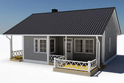 Textured Single Family House 07 3d model
