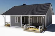 Textured Single Family House 07 3d model