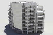 Residential Complex Element 04 3d model