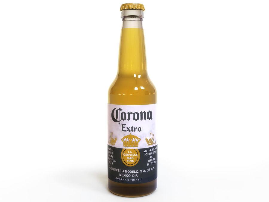 Piwo Corona royalty-free 3d model - Preview no. 2