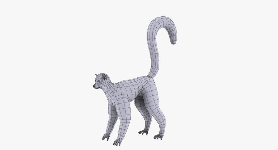 Lemur royalty-free 3d model - Preview no. 10