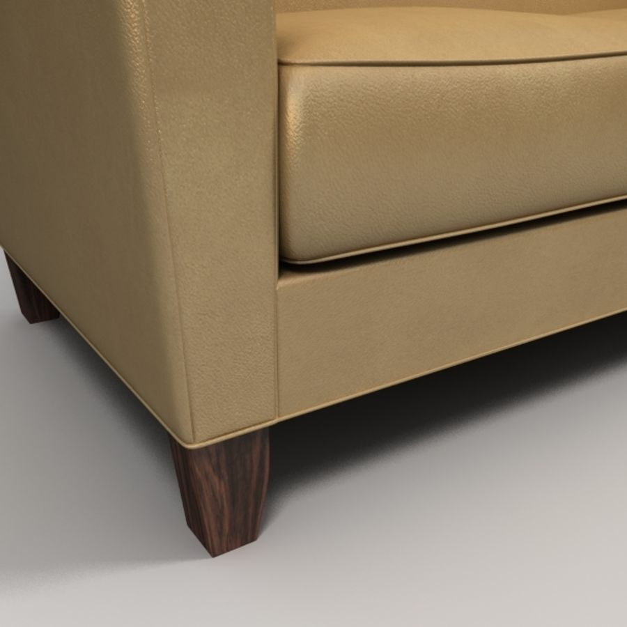 leather sofa royalty-free 3d model - Preview no. 3
