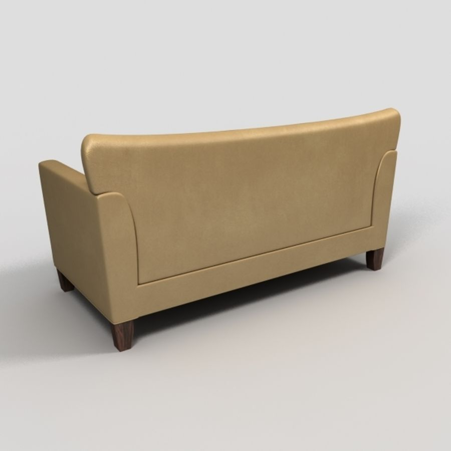 leather sofa royalty-free 3d model - Preview no. 5