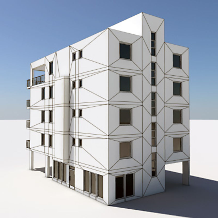 Apartment Building 01 royalty-free 3d model - Preview no. 6