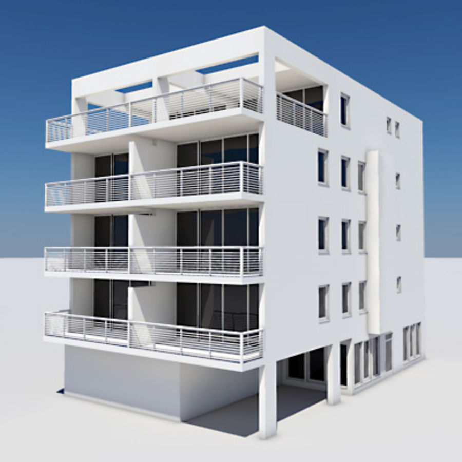 Apartment Building 01 royalty-free 3d model - Preview no. 1