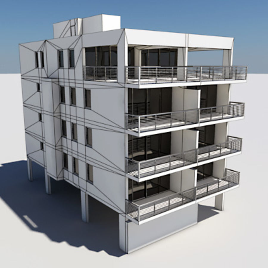 Apartment Building 01 royalty-free 3d model - Preview no. 5