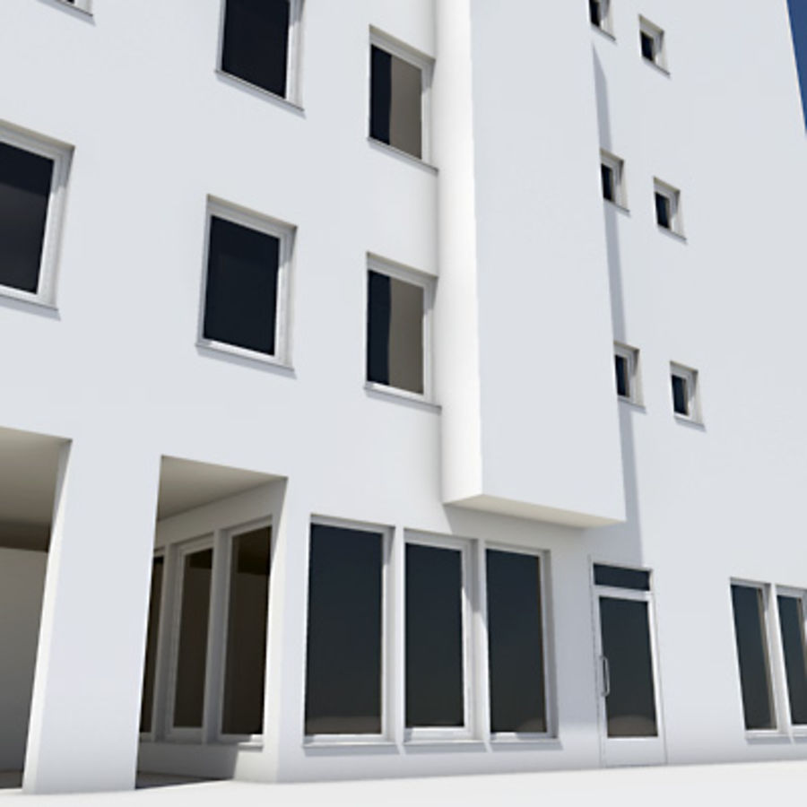 Apartment Building 01 royalty-free 3d model - Preview no. 4