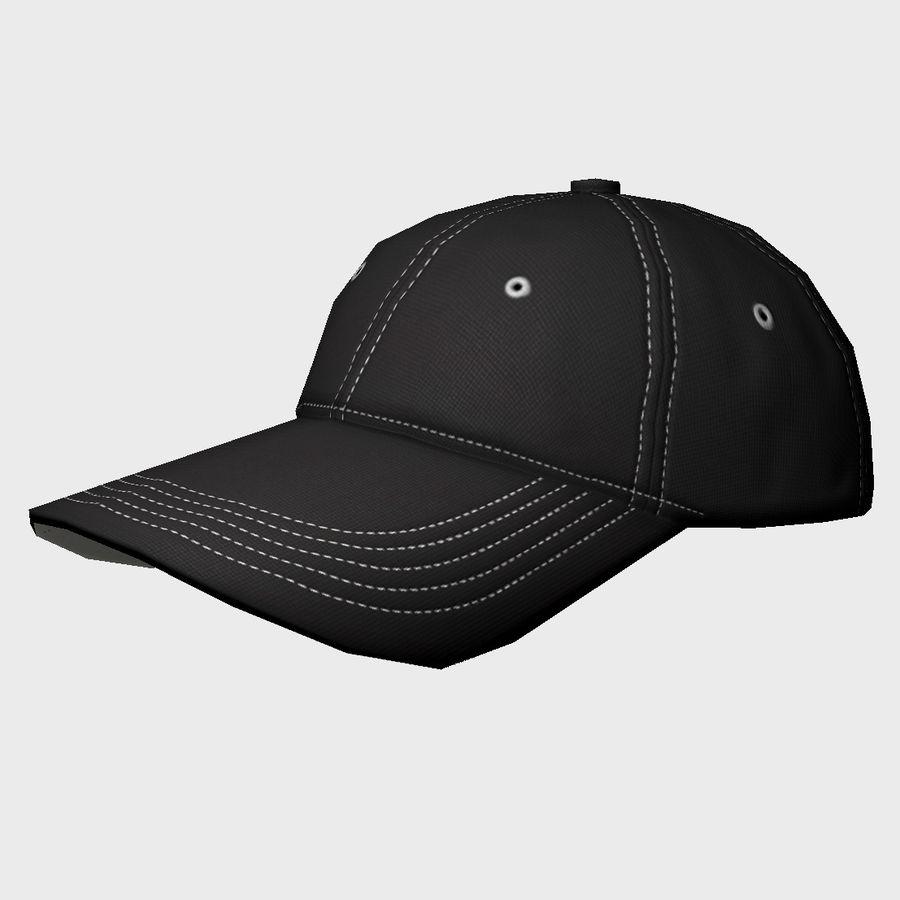Cap Black royalty-free 3d model - Preview no. 2