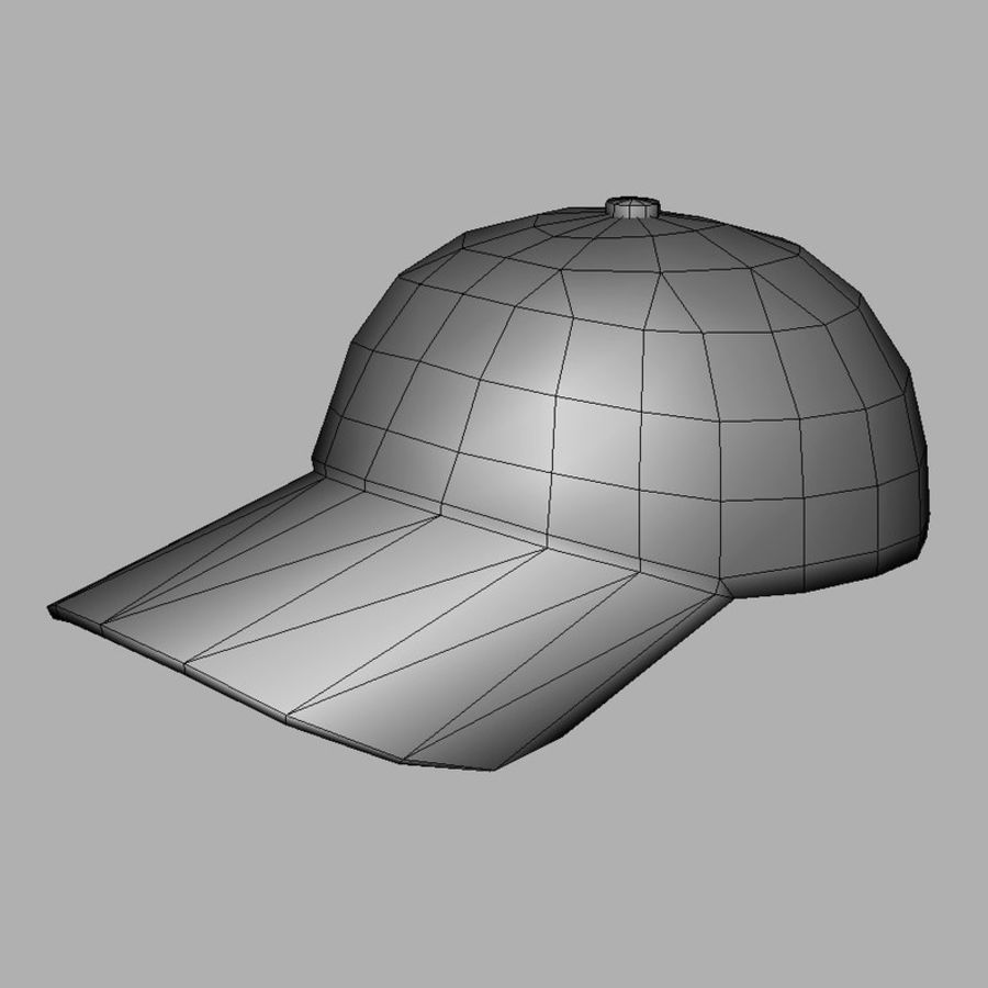 Cap Black royalty-free 3d model - Preview no. 9