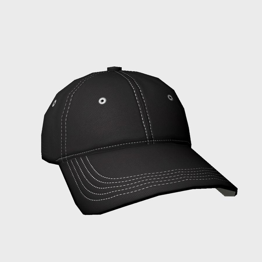 Cap Black royalty-free 3d model - Preview no. 3