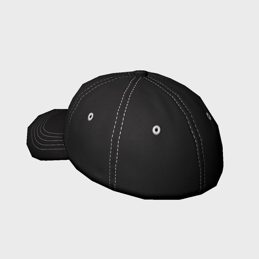Cap Black royalty-free 3d model - Preview no. 5
