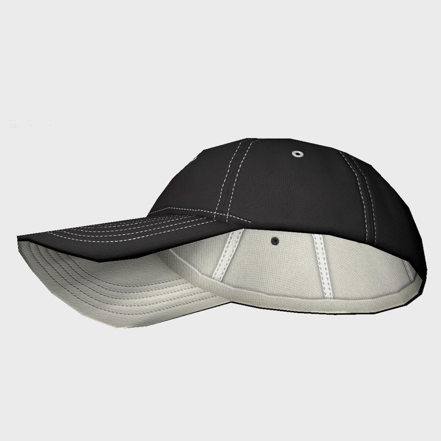 Cap Black royalty-free 3d model - Preview no. 7