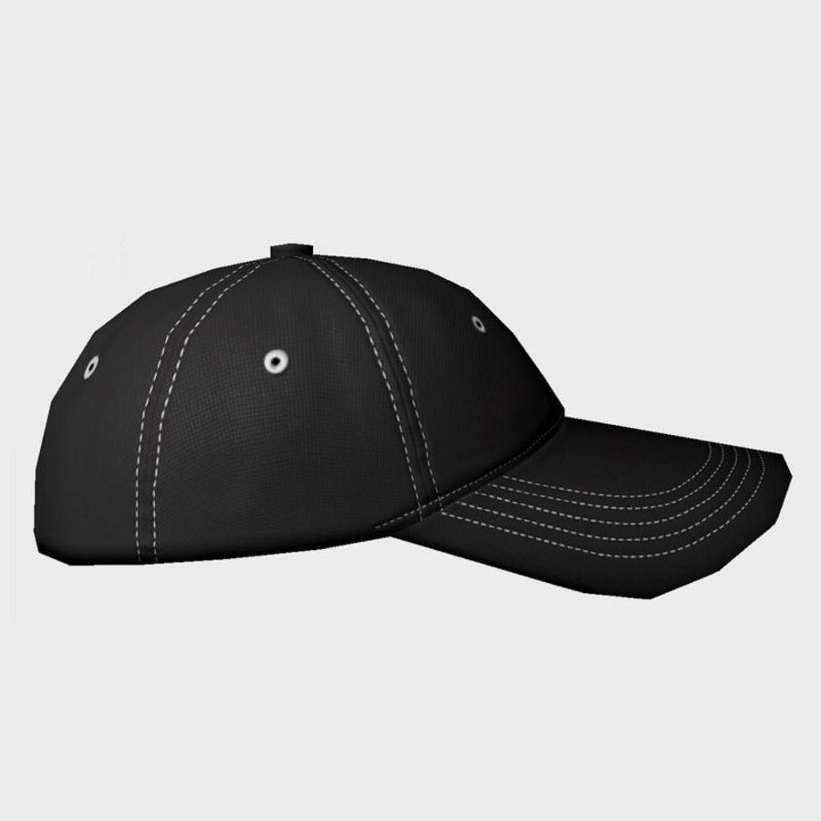 Cap Black royalty-free 3d model - Preview no. 4